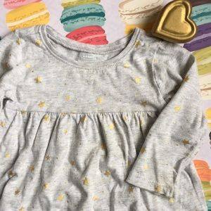Old Navy Gold Starry Dress size 6-12 months